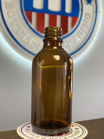 60ml Amber Glass Bottle with 18-415 Neck - CASED 240 - Rock Bottom Bottles / Packaging Company LLC