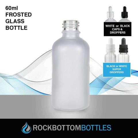 60ml Frosted Glass Bottle - Rock Bottom Bottles / Packaging Company LLC