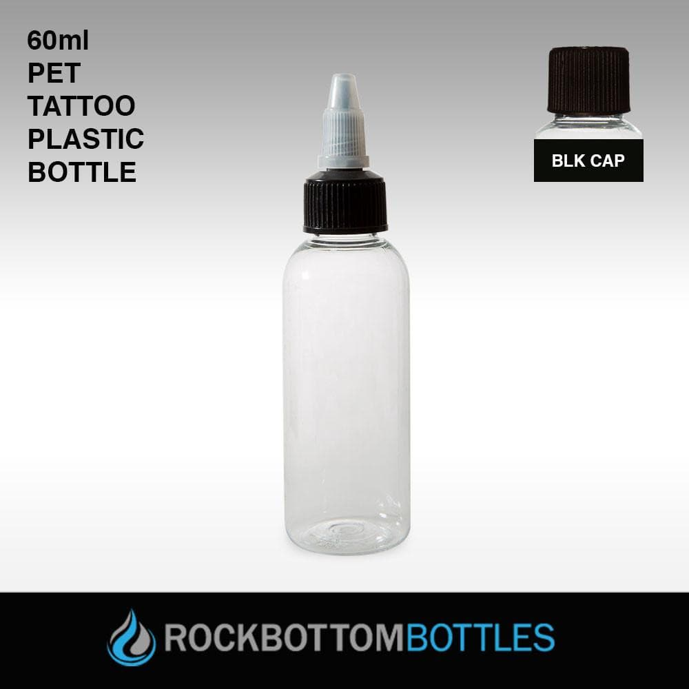 60ml PET TATTOO Plastic Bottle - Rock Bottom Bottles / Packaging Company LLC