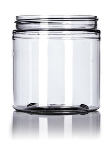 8 oz clear PET single wall jar with 70-400 neck finish - CASED 480 - Rock Bottom Bottles / Packaging Company LLC