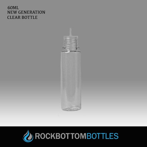 60ml Clear Super Unicorns G4 - CASED 750 - Rock Bottom Bottles / Packaging Company LLC