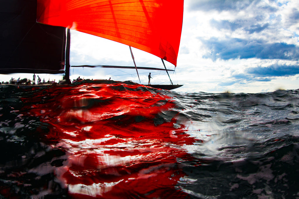 Svea blood red spinnaker