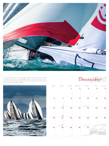 2020 Ultimate Sailing Calendar December by Marina Semenova