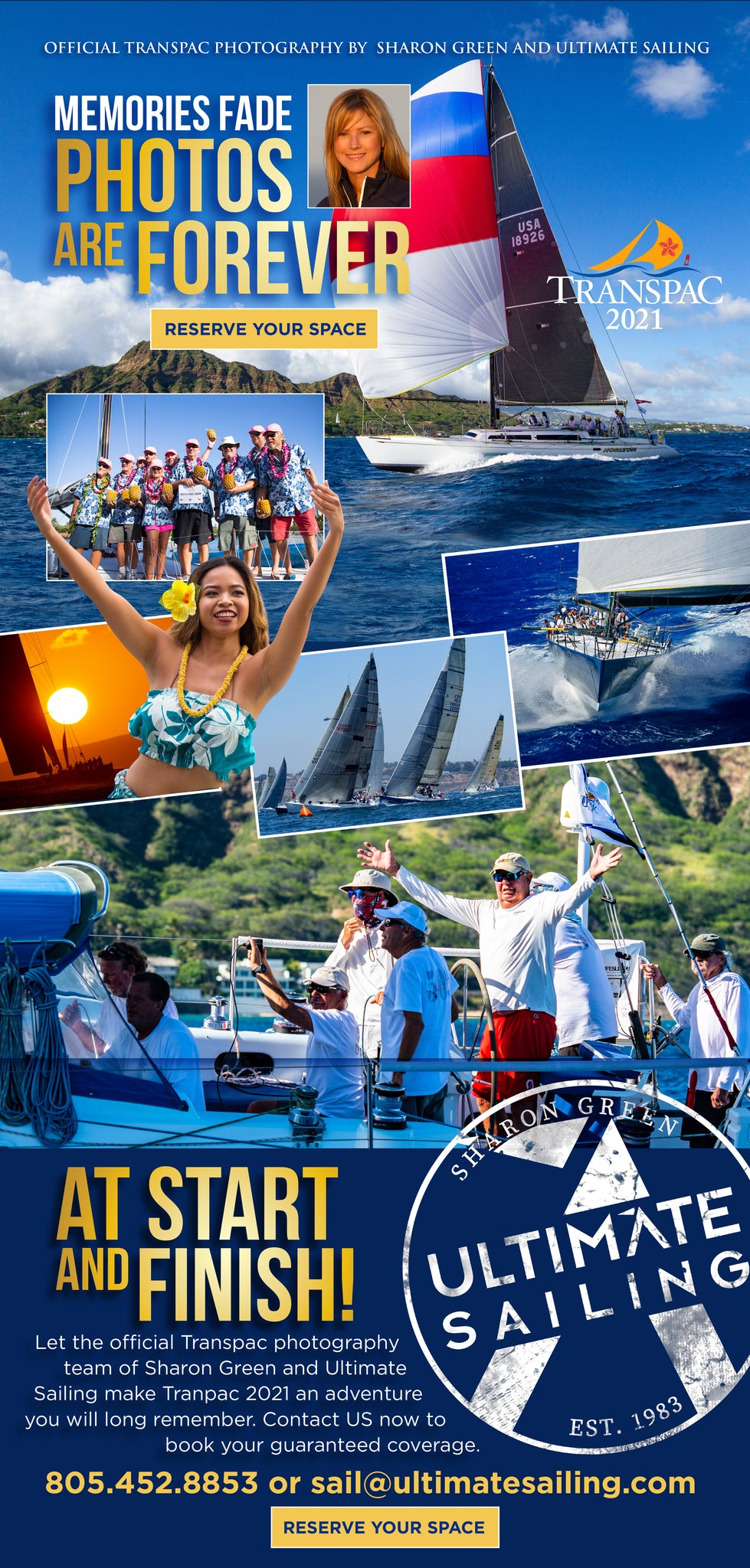 Transpac Photo coverage by Sharon Green and Ultimate Sailing