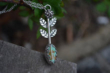 Cherry Blossom Turquoise Necklace // #1