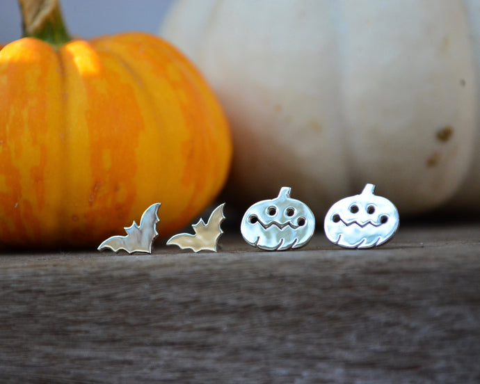 Pumpkin or Bat Earrings
