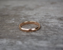 Rose Gold 18K Half Round Band