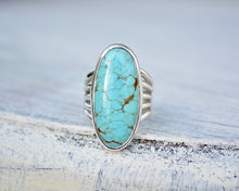 Five Band Turquoise Ring // Size 6.25