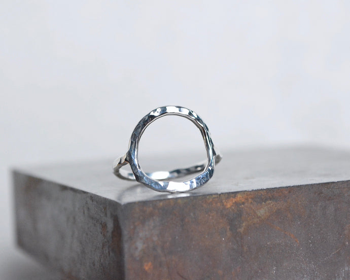 Circle Hammered Stacking Ring