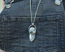 Bloodstone Quartz Point Necklace