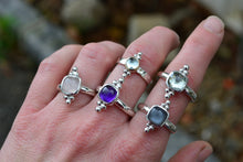 Amethyst Trilogy Ring // Size 8.25