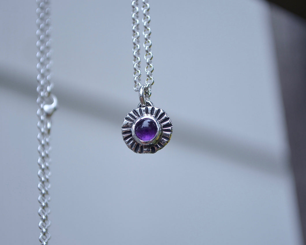 Amethyst Sun Burst Necklace