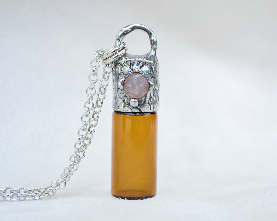 Peach Man in Moonstone Aromatherapy Necklace