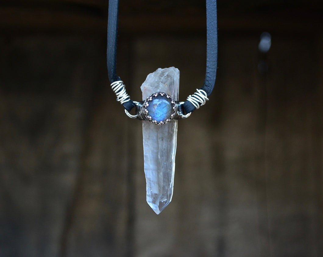 Labradorite & Quartz Necklace