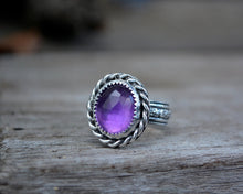 Amethyst Rose Cut Ring