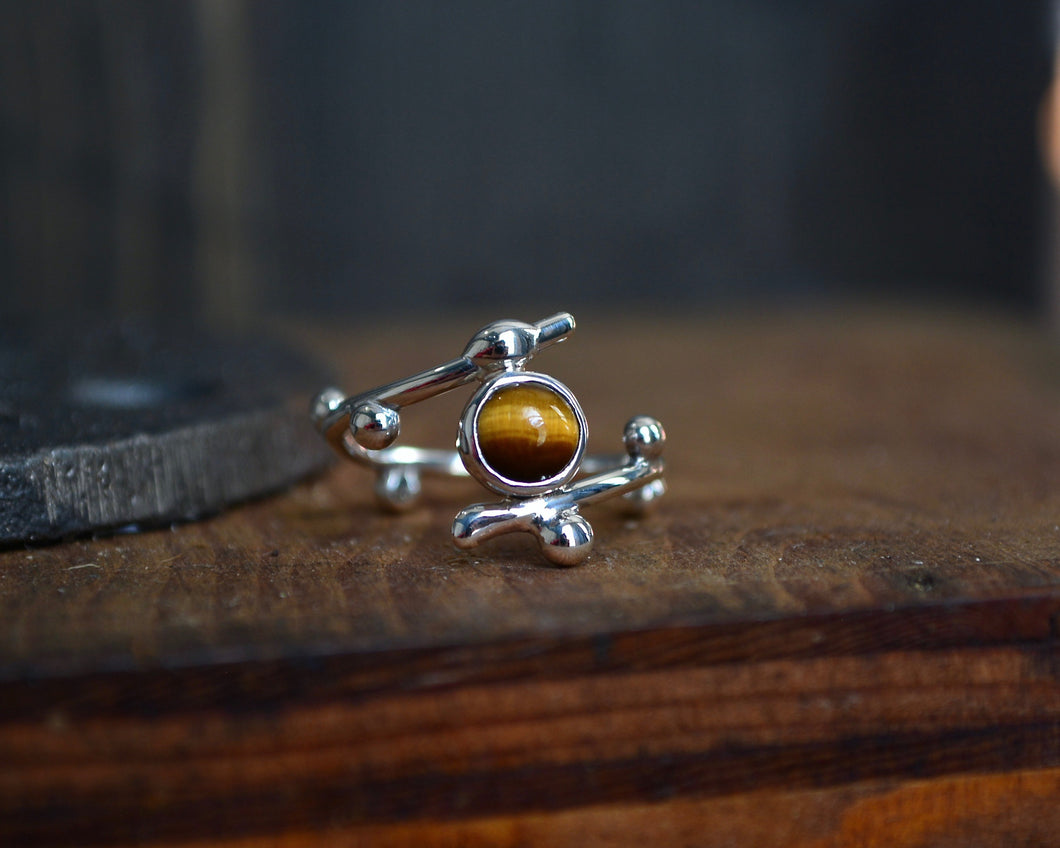 Tigers Eye Sprig Ring
