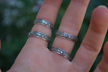 Leaf Pattern Sterling Silver Band
