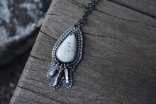 Dendritic Agate Crystal Necklace 10 & 14K Gold/Silver