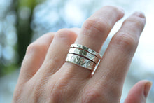Recycled Hammered Sterling Silver Bands