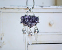 Amethyst Dream Catcher Necklace #2