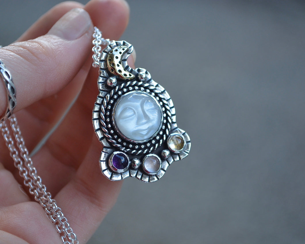 Moonstone Moment in Time Necklace