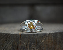 Citrine Four Point Rings