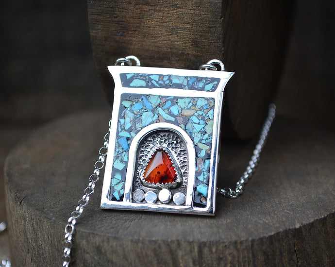 Fireplace Inlay Necklace