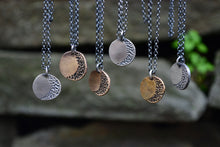 Crescent Moon Rustic Necklace