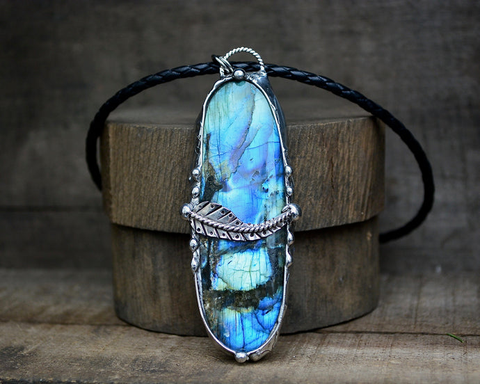 Labradorite Paisley Necklace