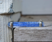 Raw Kyanite Bar Necklace