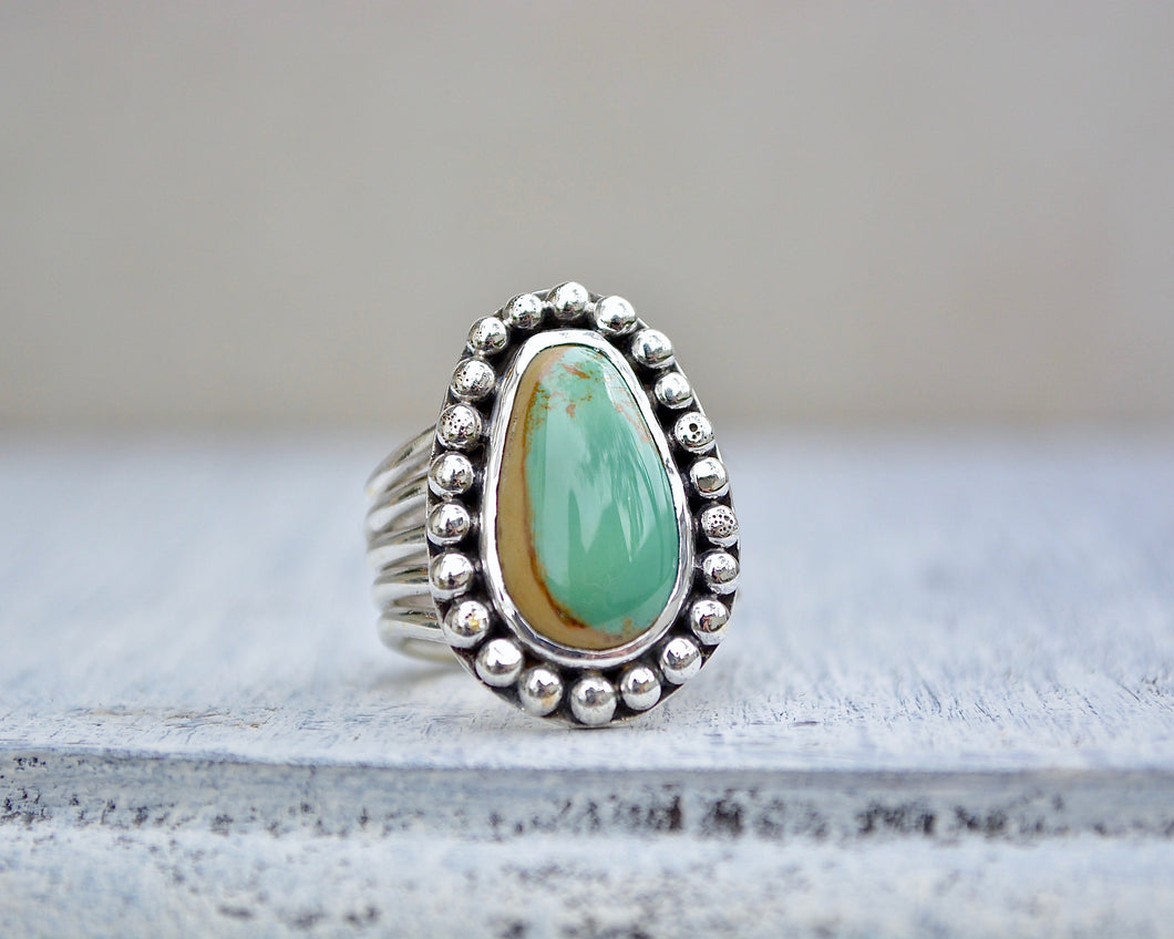 Turquoise 5 Band Split Ring // Size 7.5