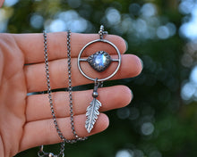 Moonstone Feather Balance Necklace