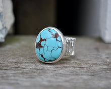 Desert Web Turquoise Bark Band Ring // Size 6
