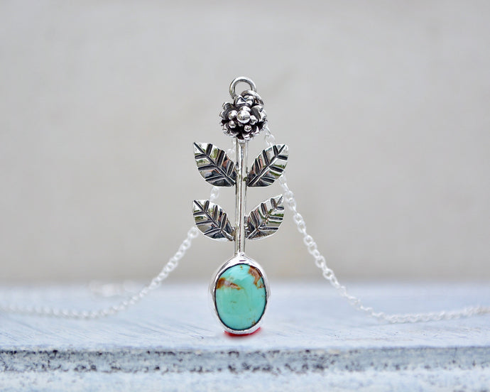 Cherry Blossom Turquoise Necklace // #2