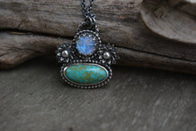 Turquoise & Man in the Moonstone Necklace