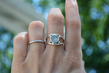 Rainbow Moonstone Four Point Ring Size 6.5
