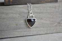 Smokey Quartz Trillion Necklace