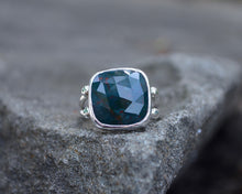 Bloodstone Double Band Ring // Size 6.5
