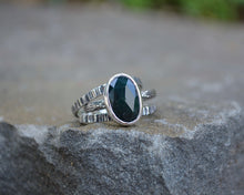 Bloodstone Stacking Ring Set // Size 8.5