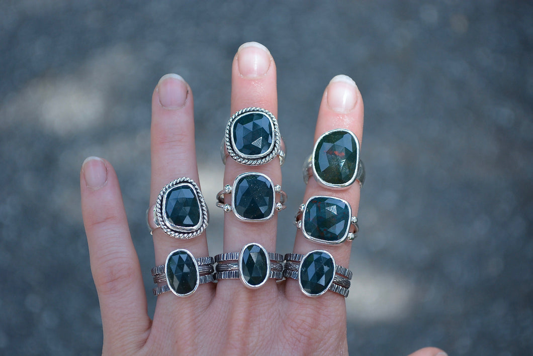 Bloodstone Ring // Size 7 – MeSheDesigns