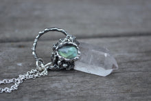 Clear Quartz Labradorite Crystal Necklace