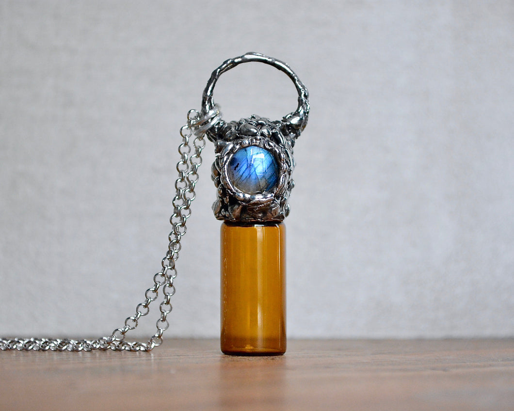 Labradorite Roller Ball Necklace