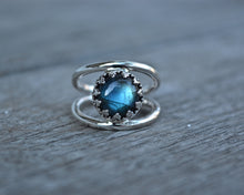 Labradorite Double Banded Ring Size 6.5