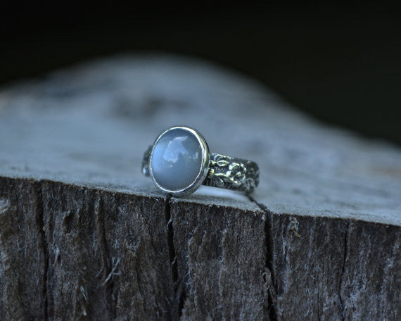 Grey Moonstone Floral Band