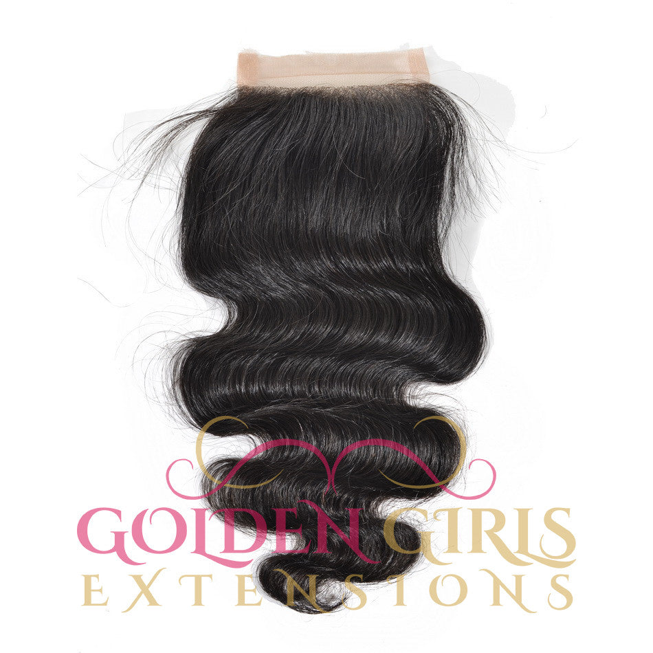 "Lace Closure 8""-20""  Brazilian Virgin Hair Free Part 100% Human Hair Natural Color"