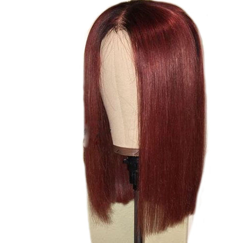Straight |Short Bob | 150% Density| Pre Plucked | Lace Front Wig| *Rose*