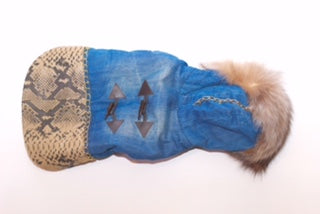 Custom Brooklyn Bella Denim Fur & Python Jacket