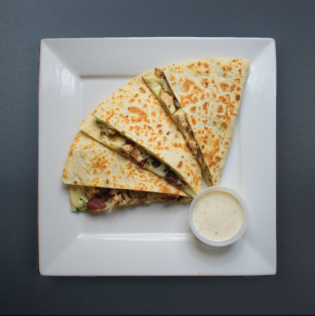 Chicken Bacon Ranch Quesadillas - X-Factor Meals