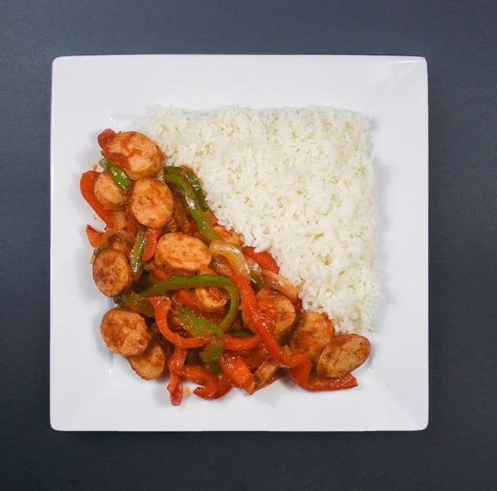 Chicken Sausage and Peppers - X-Factor Meals