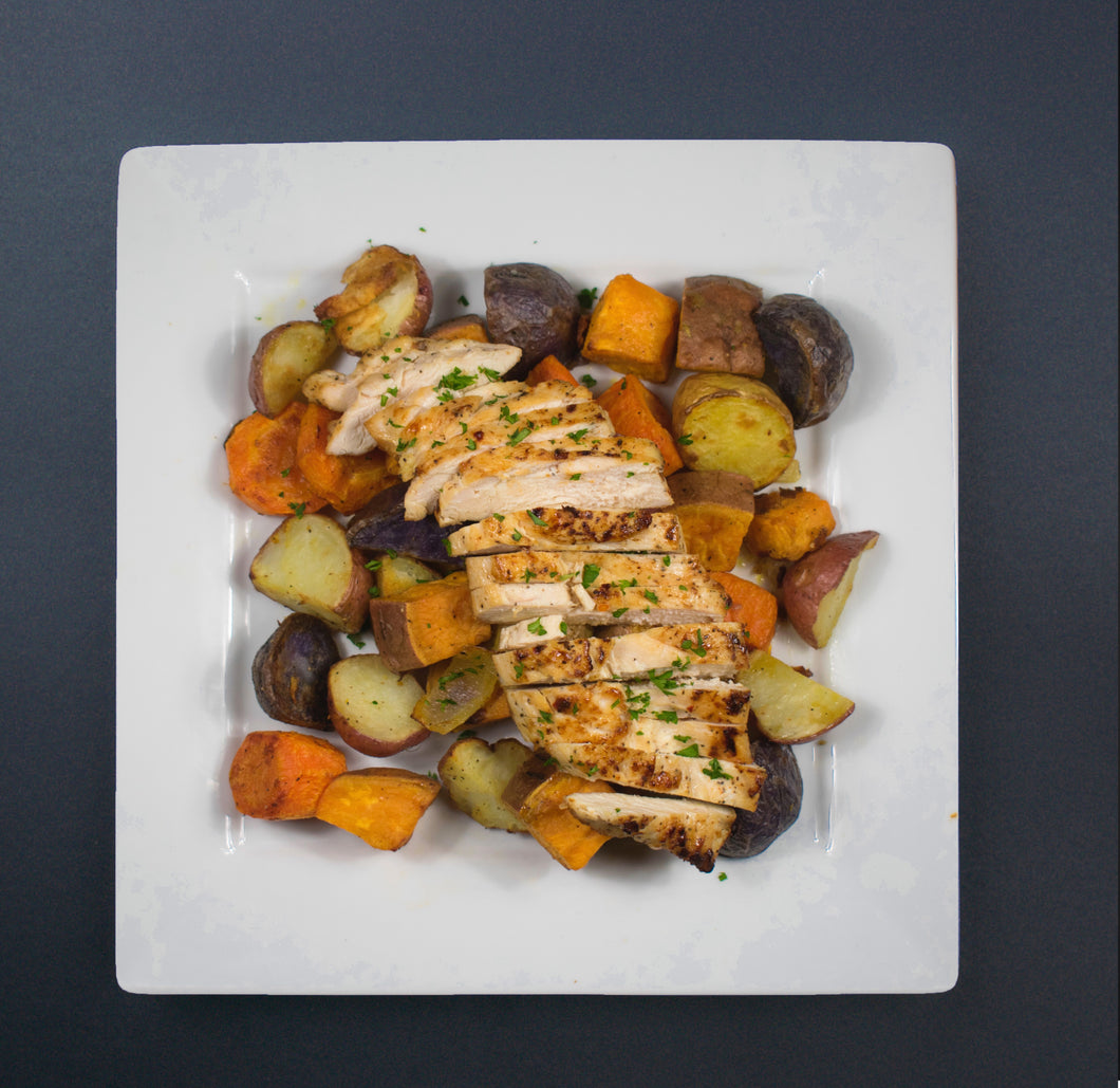 Baked Chicken Breast with Roasted Vegetables - X-Factor Meals